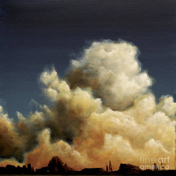 Painting - Sunset Cummulus Clouds by Ric Nagualero