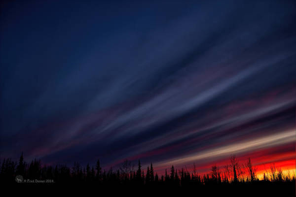 Photograph - Sunset Dan Creek Alaska by Fred Denner