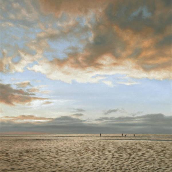 Mooring Painting - Sunset Diggers by Julia O'Malley-Keyes