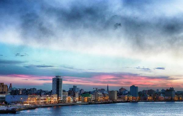 Malecon Wall Art - Photograph - Sunset, El Malecon, Havana by Elisabeth Pollaert Smith