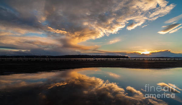Puget Sound Photograph - Sunset Evening Conclusion by Mike Reid