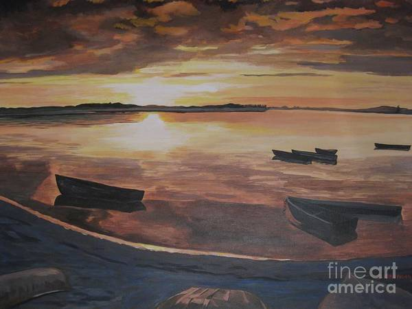 Painting - Sunset Evening Tide by Stella Sherman