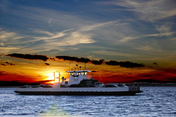 Wall Art - Photograph - Sunset Ferry by Frank Savarese