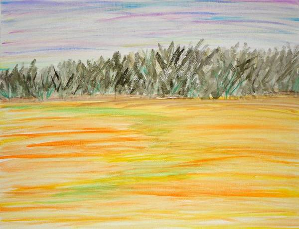 Wall Art - Painting - Sunset Field by Valerie Howell