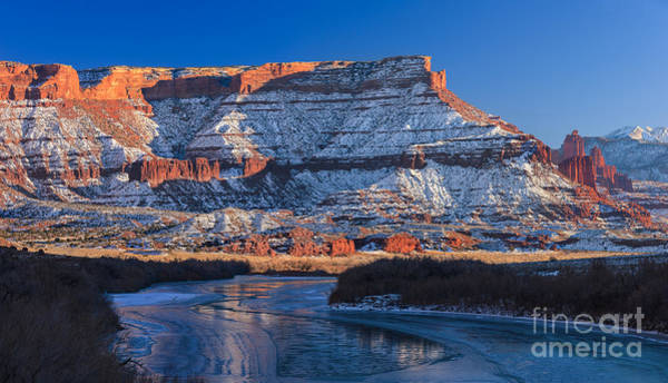 Fisher Towers Photograph - Sunset Fisher Towers by Henk Meijer Photography