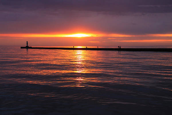 Photograph - Sunset Fishermen by Rachel Cohen