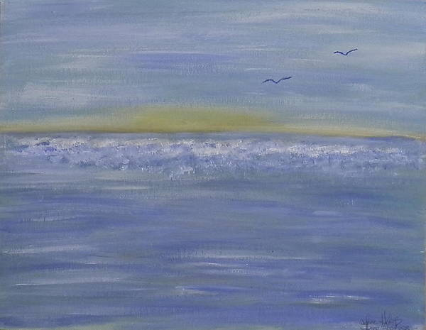 Ione Painting - Sunset Flight by Ione Hedges