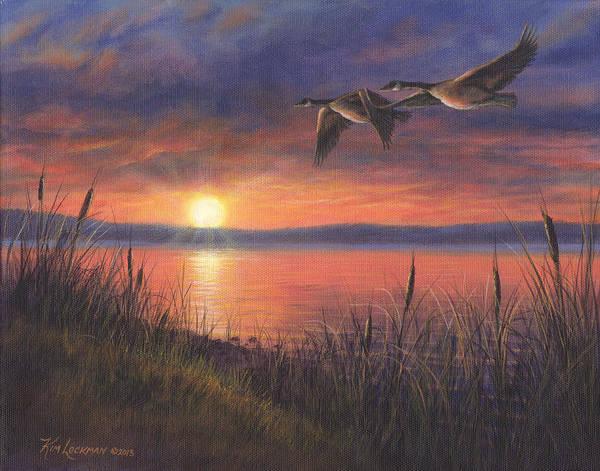 Painting - Sunset Flight by Kim Lockman
