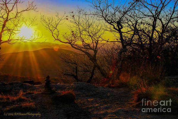 Photograph - Sunset From Blood Mountain by Barbara Bowen