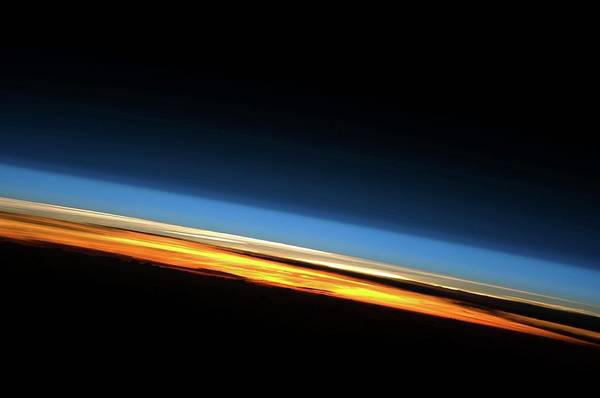Earth Orbit Photograph - Sunset From Space by Nasa/science Photo Library