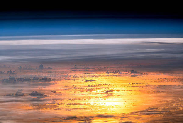 Mesosphere Photograph - Sunset From The International Space by Science Source