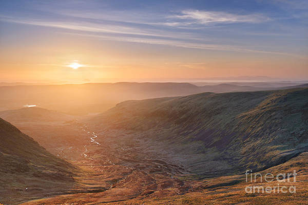 Southern Uplands Wall Art - Photograph - Sunset From The Merrick by Rod McLean