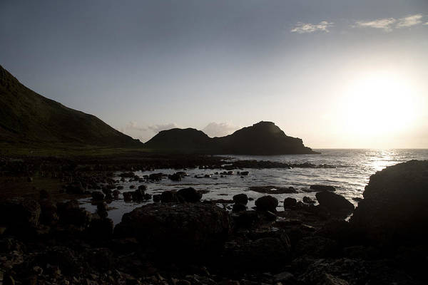 Basalt Photograph - Sunset -- Giant's Causeway -- Ireland by Betsy Knapp
