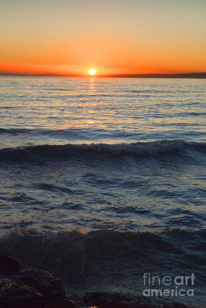 Photograph - Sunset Gilding The Waves by Brenda Kean