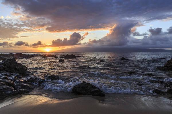 Napili Bay Photograph - Sunset Glory At Napili Bay by Charlie Osborn