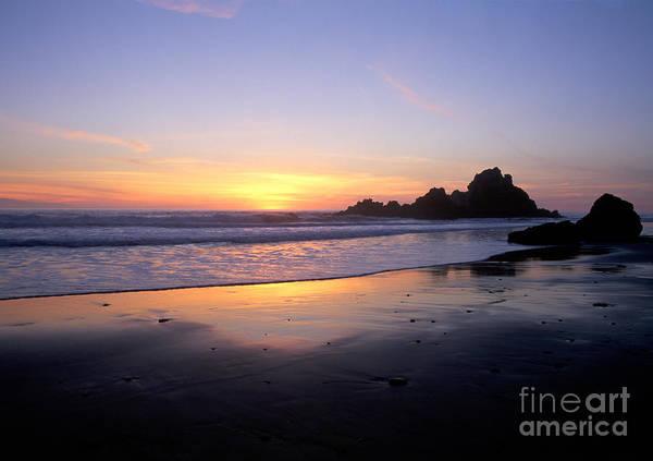 Photograph - Sunset Gold Big Sur by Charlene Mitchell
