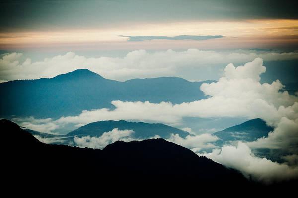 Wall Art - Photograph - Sunset Himalayas Mountain With Clouds by Raimond Klavins