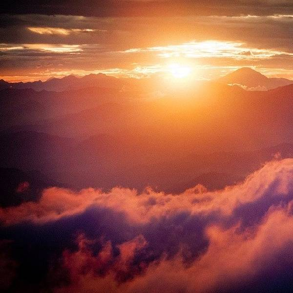 Beautiful Sunrise Wall Art - Photograph - Sunset Himalayas by Raimond Klavins
