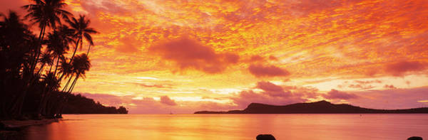 Wall Art - Photograph - Sunset, Huahine Island, Tahiti by Panoramic Images