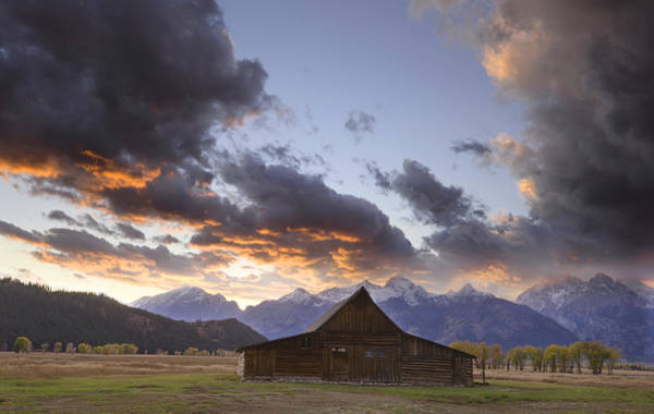 Photograph - Sunset I At The Thomas Moulton Barn by Craig Ratcliffe