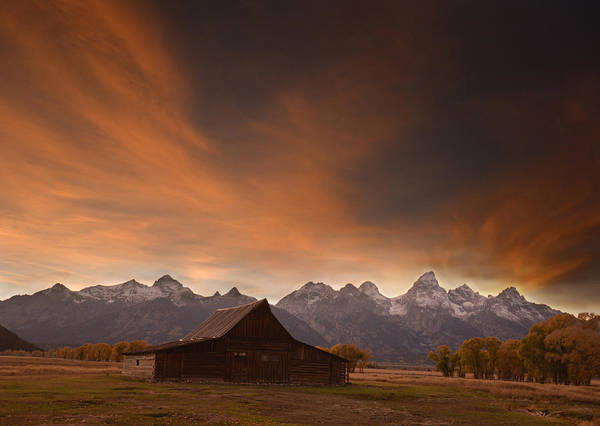 Photograph - Sunset II At The Thomas Moulton Barn by Craig Ratcliffe