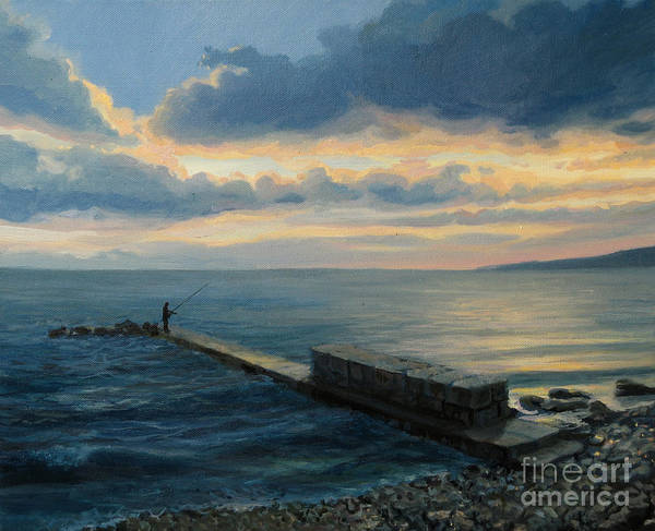 Wall Art - Painting - Sunset In Balchik by Kiril Stanchev