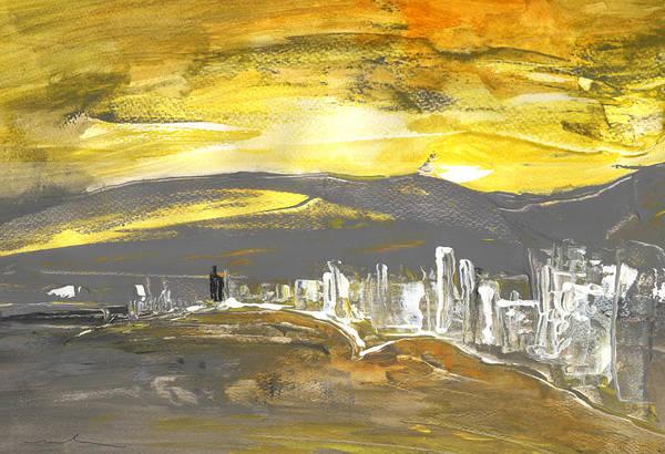 Benidorm Wall Art - Painting - Sunset In Benidorm by Miki De Goodaboom