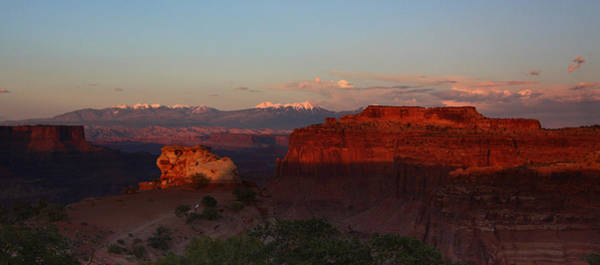 Sunset In Canyonlands National Park Art Print