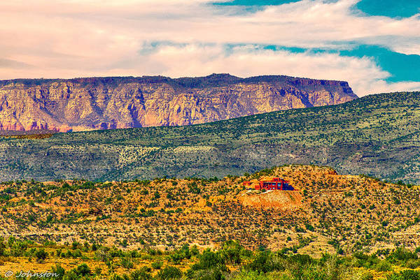 Digital Art - Sunset In Cottonwood View Is N Towards Sedona Arizona by Bob and Nadine Johnston
