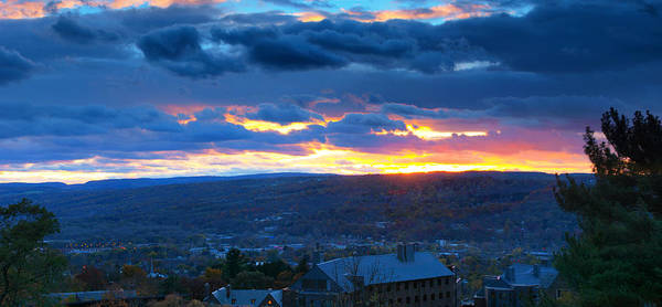 Wall Art - Photograph - Sunset In Ithaca New York Panoramic Photography by Paul Ge