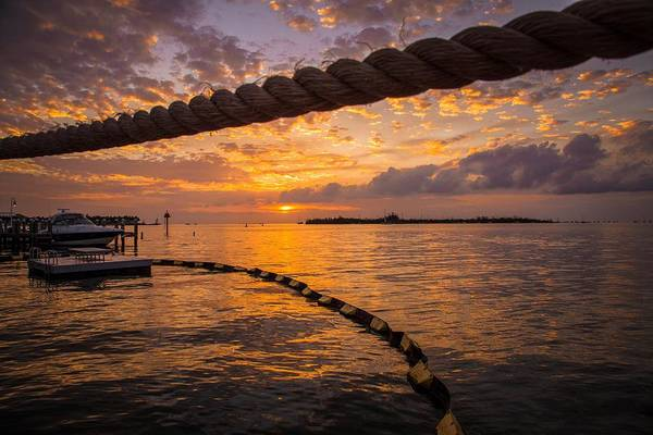 Photograph - Sunset In Key West by Maria Robinson