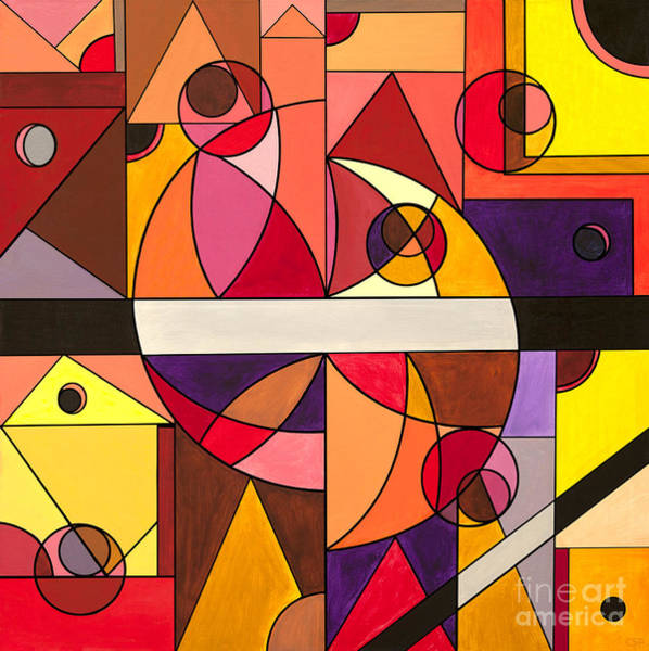 De Stijl Painting - Sunset In Los Angeles by Christopher Page