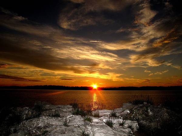 Casco Bay Photograph - Sunset In Maine by Donnie Freeman