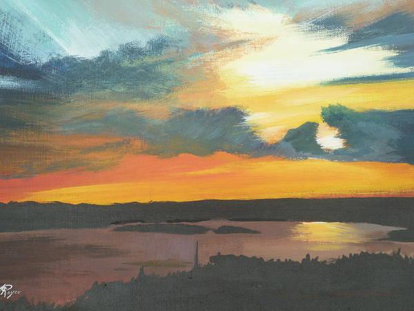 Sunset In Motion Art Print by Lori Royce