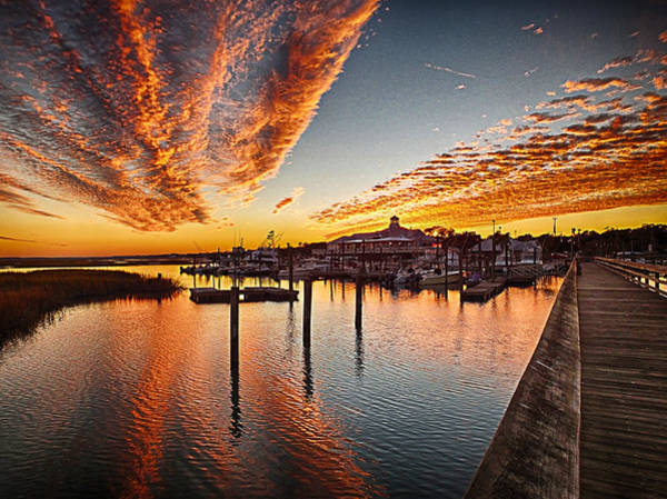 Sunset In Murells Inlet Art Print