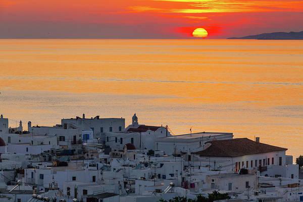 Photograph - Sunset In Mykonos by Deimagine