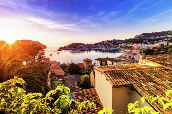 Luxury Yacht Photograph - Sunset In Port De Soller Mallorca by Juergen Sack