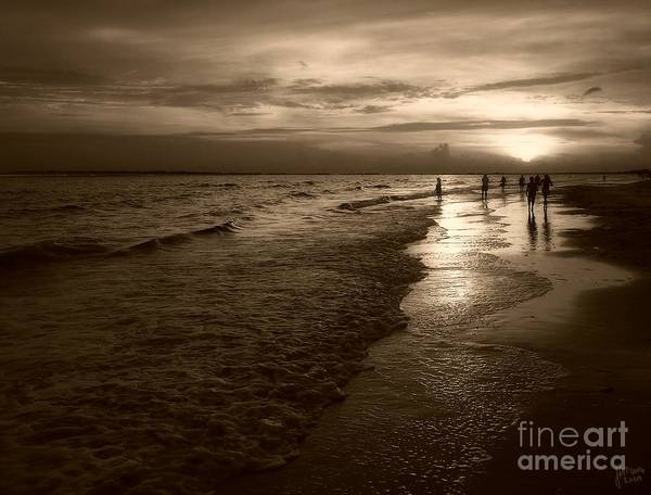 Photograph - Sunset In Sepia by Jeff Breiman