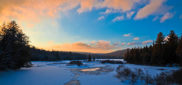 Photograph - Sunset In The Adirondack Mountains by David Patterson