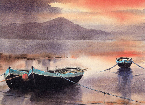 Painting - Sunset In The West by Val Byrne