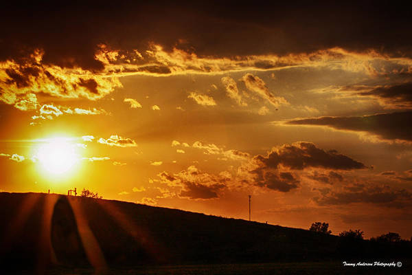 Vernon County Photograph - Sunset In Vernon County by Tommy Anderson