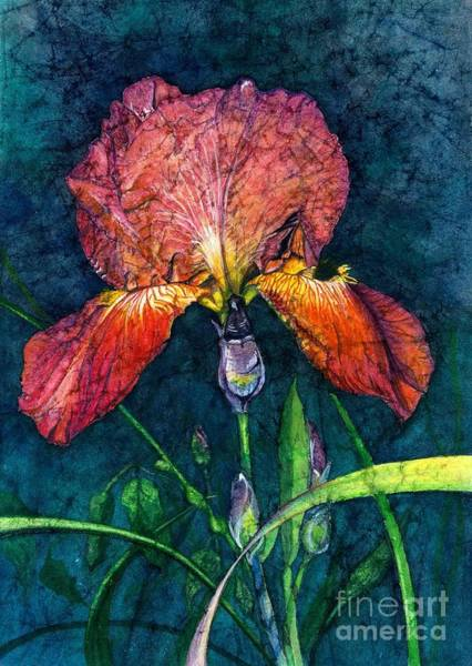 Wall Art - Painting - Sunset Iris by Barbara Jewell