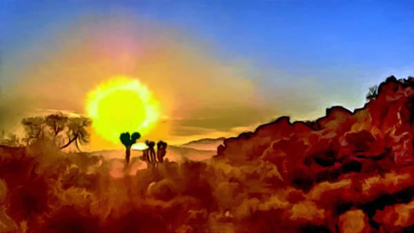 Wall Art - Photograph - Sunset Joshua Tree National Park V2 by Bob and Nadine Johnston