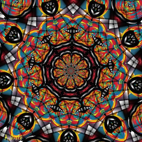 Sunset K 88 Kaleidoscope Art Print