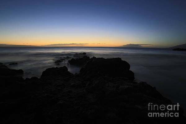 Photograph - Sunset Kamaole Beach Lll Maui Hawaii by Edward Fielding