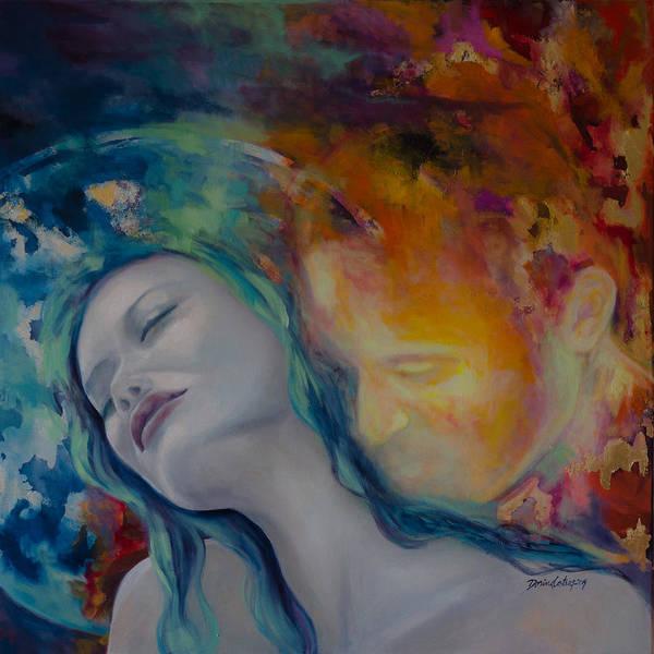 Wall Art - Painting - Sunset Kiss by Dorina  Costras