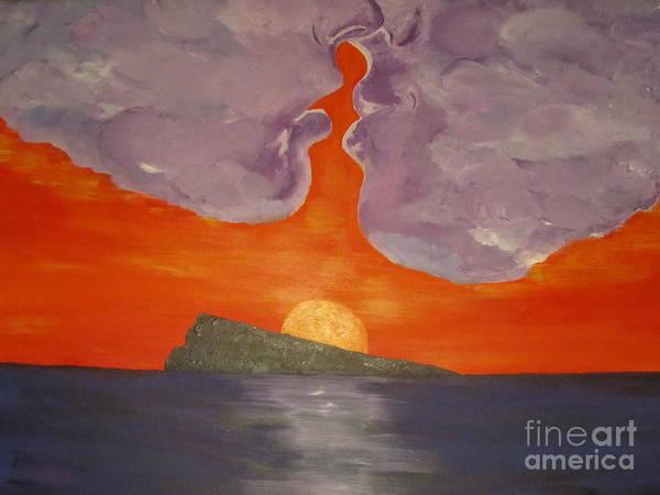 Wall Art - Painting - Sunset Kiss by Jeepee Aero