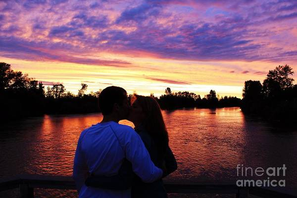 Photograph - Sunset Kiss by Michael Cross