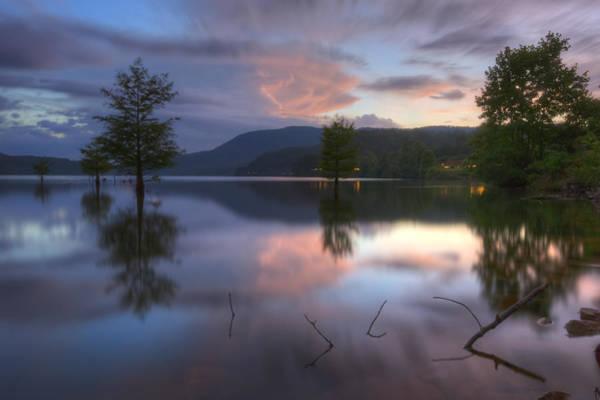 Ocoee Photograph - Sunset Lake Reflections by Debra and Dave Vanderlaan