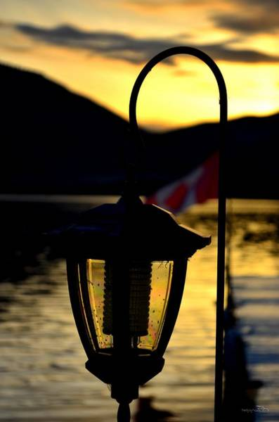 Photograph - Sunset Lamp Skaha Lake by Guy Hoffman